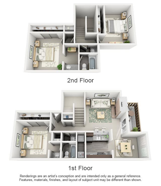 Maxwell Townhomes - 3 Bedroom 2 Bath Townhome