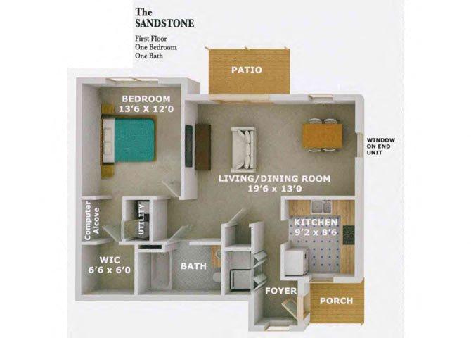 The Sandstone Floor Plan 1