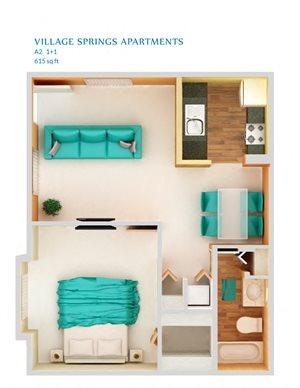 1 Bedroom A2