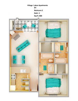 2 Bed/ 2 Bath B1