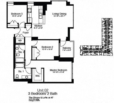 747 East 47th Street 3 Bedroom Floor Plan 5