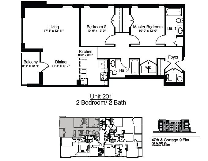 736 East 48th Street 2 Bedroom Floor Plan 2