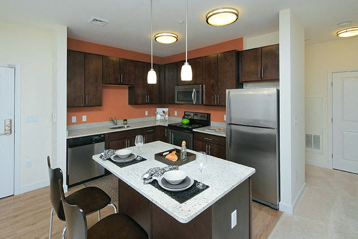 Kitchen with designer cabinetry