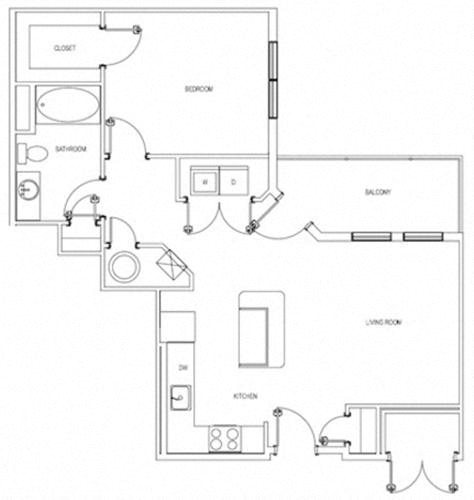The Robbins One Bedroom Layout