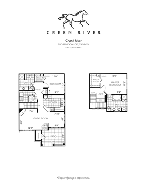 Crystal River - 2 Bed/2 Bath Loft
