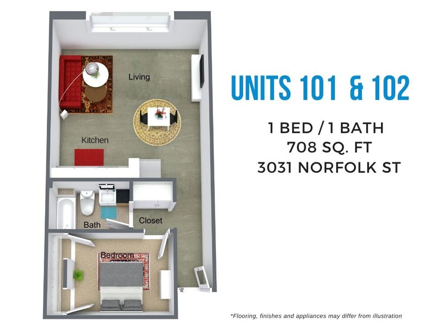 Norfolk One Bed