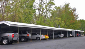 Carport at Hidden Cove Apartments in Muskegon