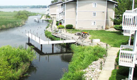 Apartments in Muskegon with Wood Decks and Boardwalks