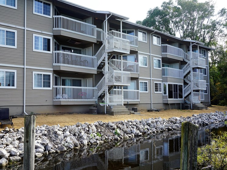 Updated Building Exteriors Hidden Cove Apartments in Norton Shores MI