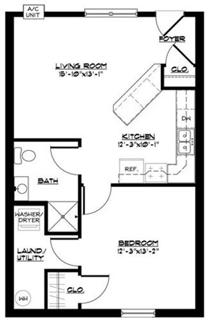 1 BR Townhome (Northbrook)
