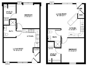 1 BR Large Townhome