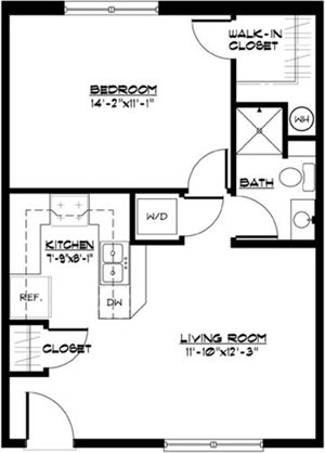 1 BR Small Townhome