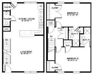 2 BR Large Townhome