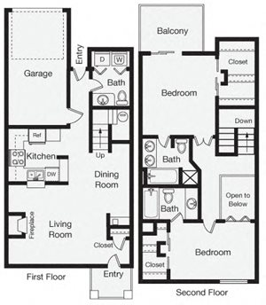 Two Bedroom Apartment Home