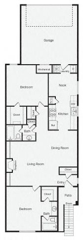 2 Bedroom Apartment Home