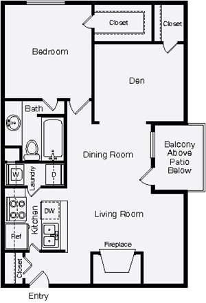 1 Bedroom Apartment Homes