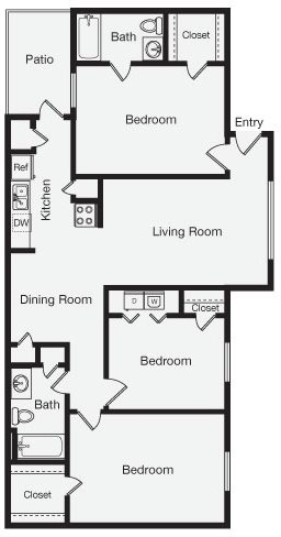 3 Bedroom Apartment Home