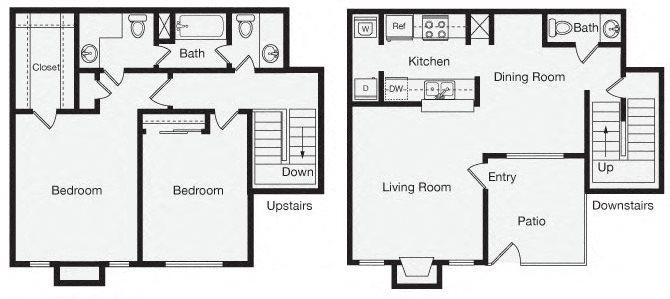 2 Bedroom Apartment Home Floor Plan 6