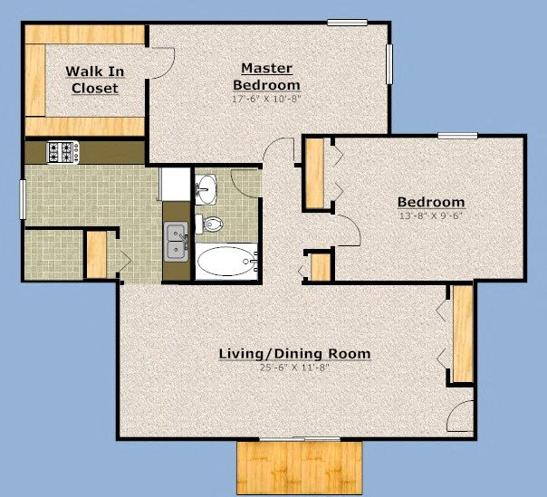 Two Bedroom Floor Plan 2