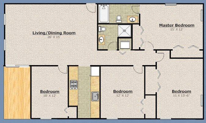 Four Bedroom Floor Plan 4