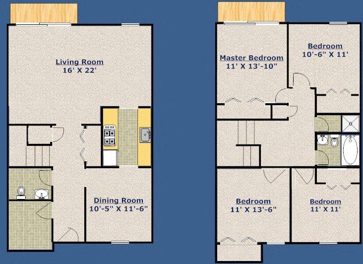 Four Bedroom - Townhouse Floor Plan 5