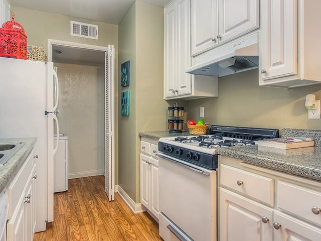 Spacious Kitchen with Pantry Cabinet at Sage Creek Apartment Homes, Simi Valley, CA