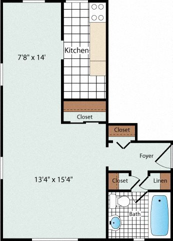 Efficiency Floorplan at Olde Salem Village