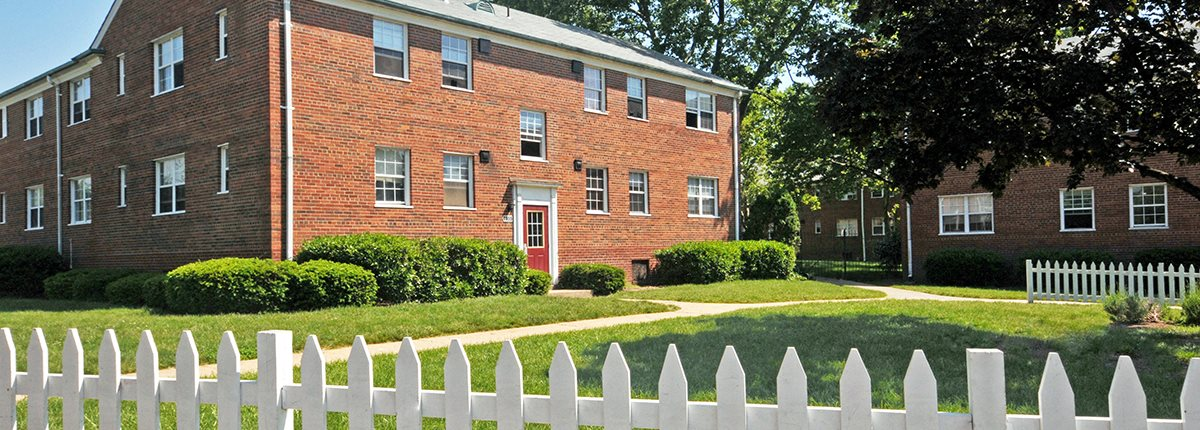 Beautifully Landscaped Courtyards at Olde Salem Village, Falls Church, VA, 22041
