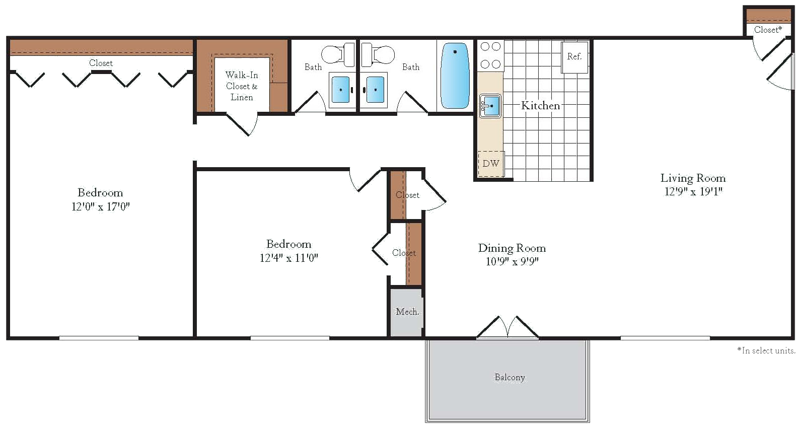 Floorplan at Sussex Square