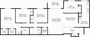 Three Bedroom with Den Apartments, Beltsville, Maryland