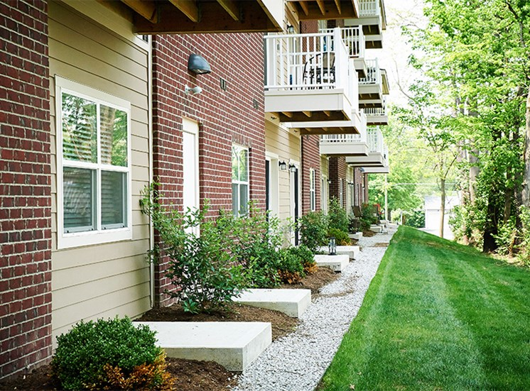 Each apartment comes with a balcony or patio space at Arden Woods
