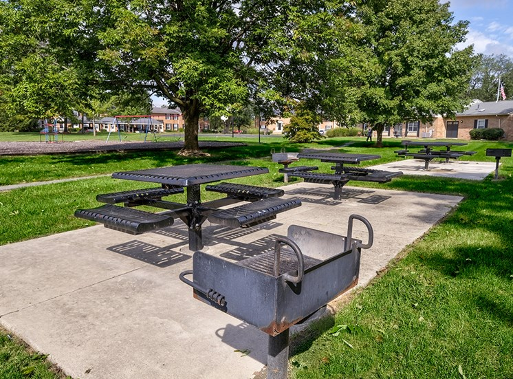 Grilling Station with Picnic Tables at Ashmore Trace