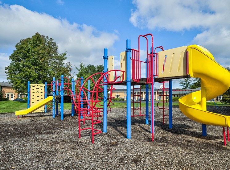 Playground with slides and obstacles for children at Ashmore Trace