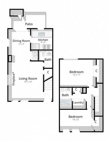 Two Bedroom Townhome in Columbus, Indiana