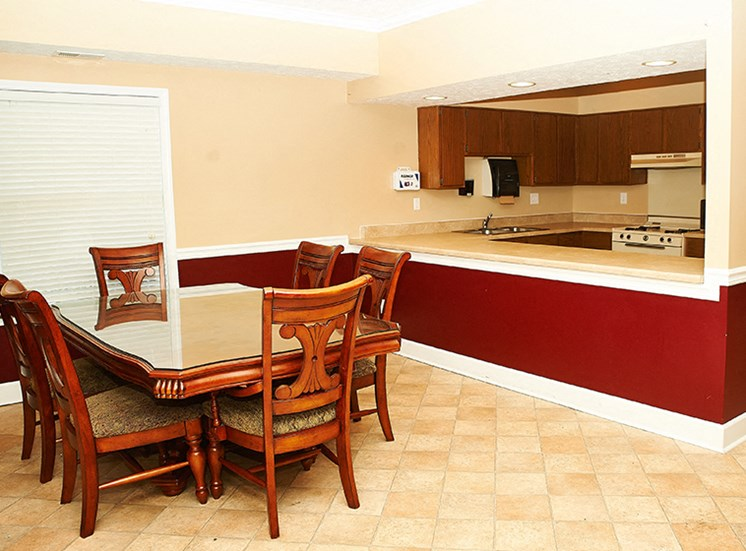 Clubhouse Kitchen and Dining for Resident Usage