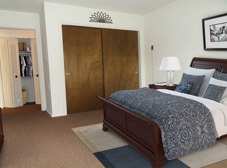 Spacious bedroom with closet at Briarwood Lexington