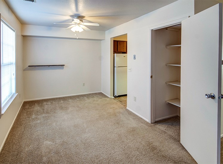 Two Bedroom Dining Room with hall closet or pantry.