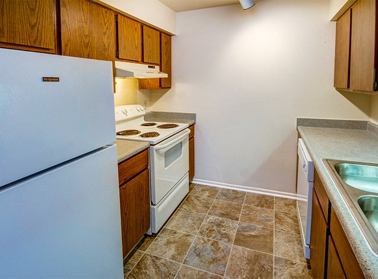 Two Bedroom Kitchen at Briarwood Toledo