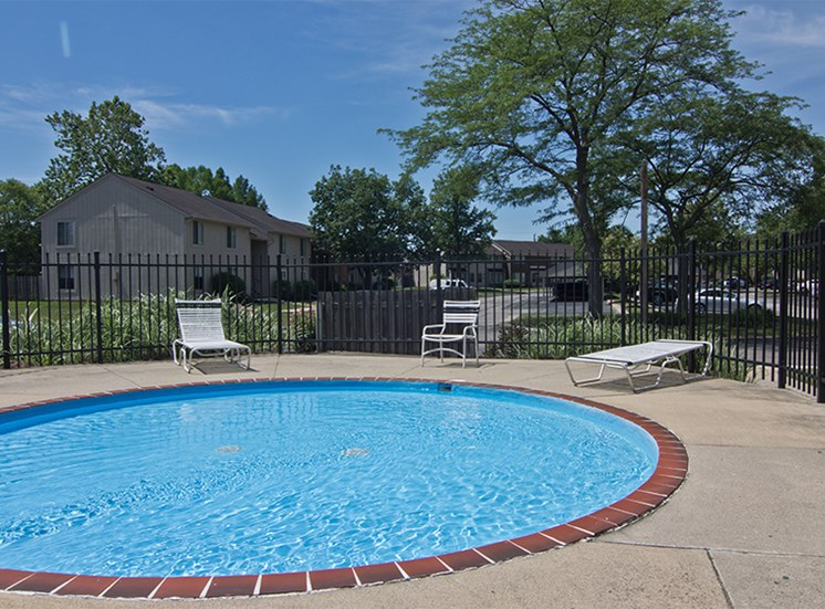 Shallow wading pool at Brookview Apartments