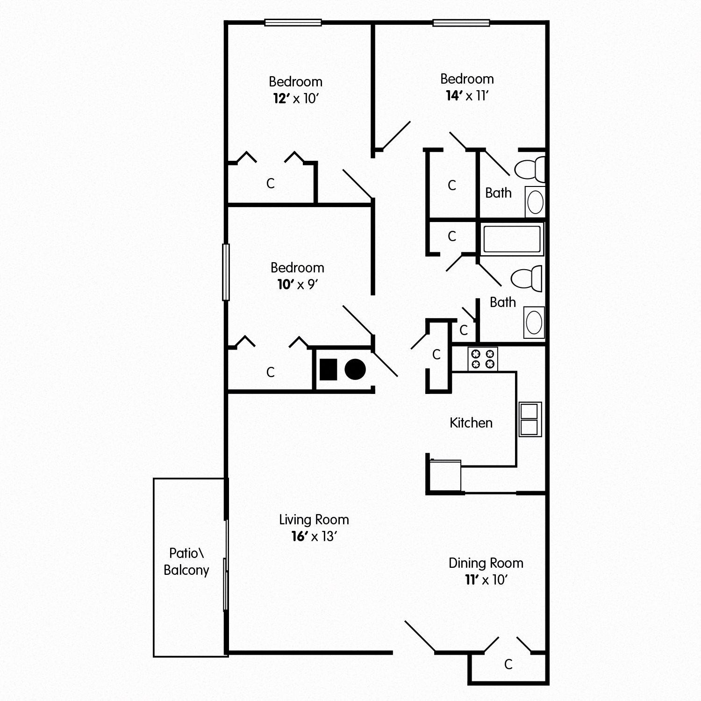Three Bedroom Apt Covington KY