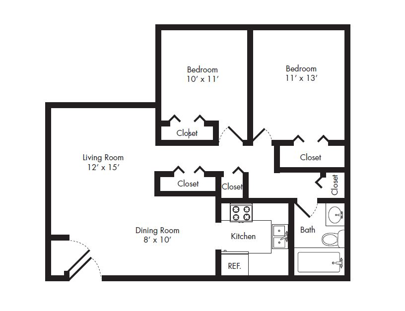 Floor plans of cambridge square hollywood apartments in - 2 bedroom apartments north hollywood ...