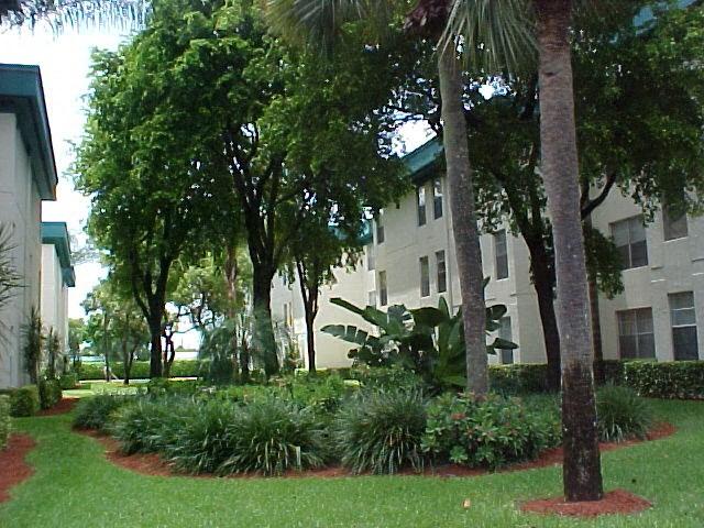 Lush landscaping at Cambridge Square Lauderdale Lakes