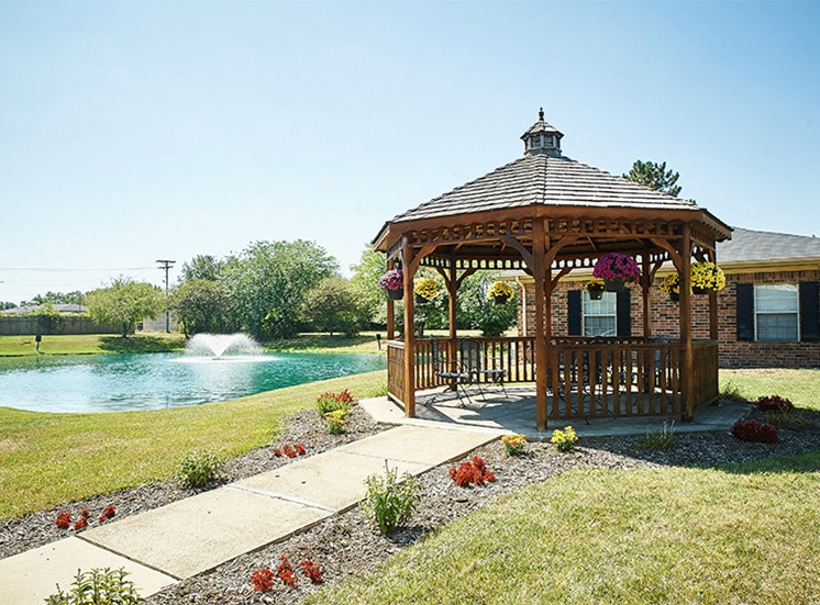 Beautifully Landscaped Grounds with a Relaxing Gazebo and Tranquil Pond