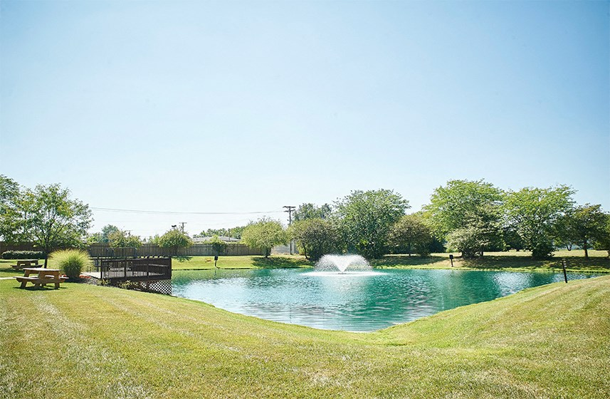 Tranquil Pond with BBQ/Picnic Area at Cambridge Square Marion
