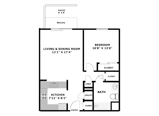 1 Bed Apt Cheap