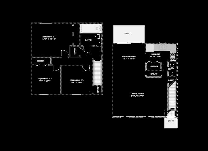 3 Bedroom Townhome Floor Plan 3