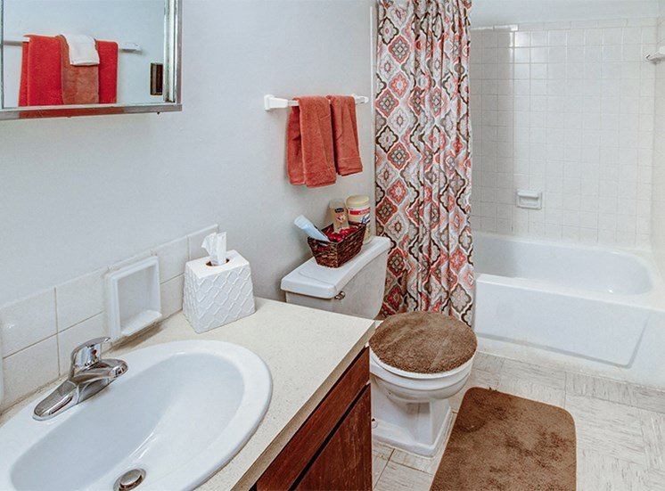 Large, four-piece Bathroom at Carriage House East