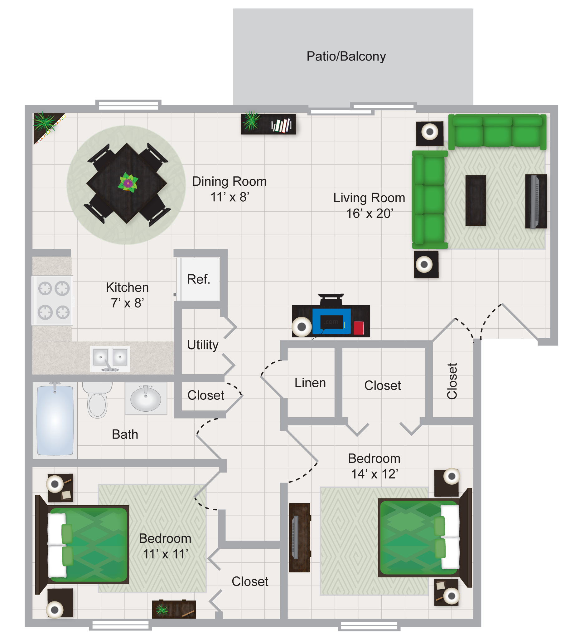 Floor Plans Of Carriage House Muskegon In Muskegon, MI