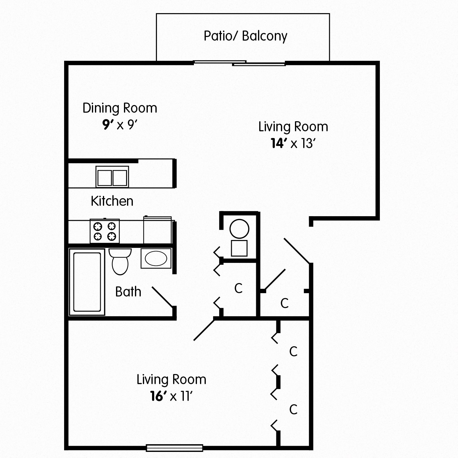 Floor Plans of Carriage House Richmond in Richmond, IN