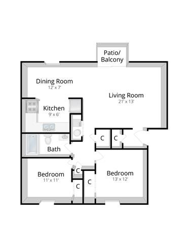 The Addison Floor Plan 2